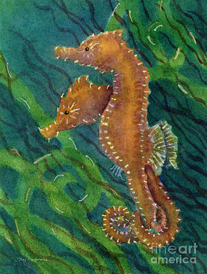 Seahorse Painting - Two By Sea by Amy Kirkpatrick