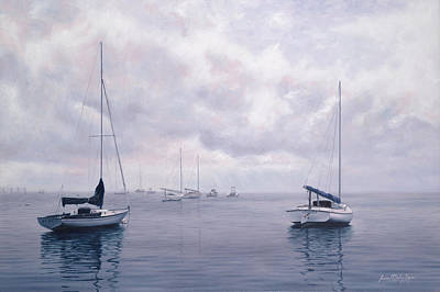 Sailing Painting - Two By Two Nantucket by Julia O'Malley-Keyes