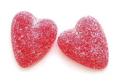 Photograph - Two Candy Hearts by Elena Elisseeva
