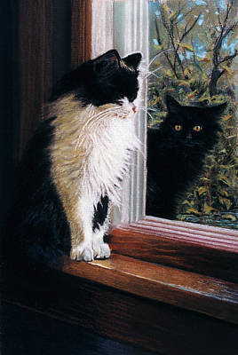 Cat Painting - Two Cats by Robert Tracy