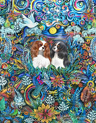 Painting - Two Cavaliers In Paradise by Jean Fitzgerald