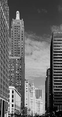 Champagne Photograph - Two Chicago Classics- Carbide And Carbon And Wrigley Building by Christine Till