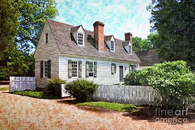 Painting - Two Chimney Cottage by Shari Nees