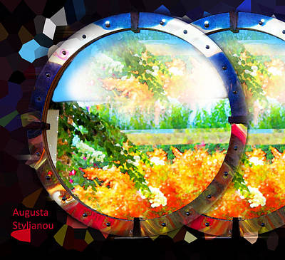 Photograph - Two Circle Landscapes by Augusta Stylianou