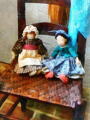 Rag Doll Photograph - Two Colonial Rag Dolls by Susan Savad