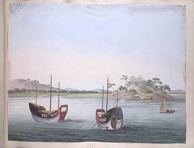 Illustration Technique Photograph - Two Colourful Boats by British Library