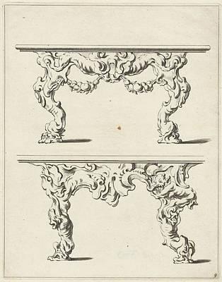 Two Console Tables Print by Pieter Hendricksz. Schut And Gerbrand Van Den Eeckhout And Nicolaes Visscher (i)