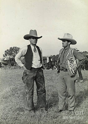 Photograph - Two Cowboys 1935 by Patricia  Tierney