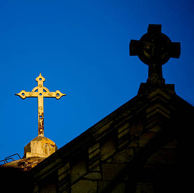 Photograph - Two Crosses In Jerusalem by Anthony Doudt