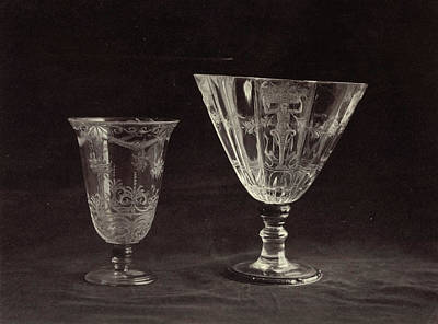 Louvre Drawing - Two Crystal Cut Glass, From The Louvre, Charles Thurston by Artokoloro