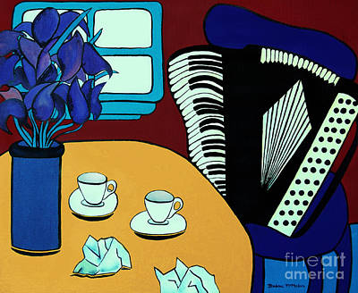 Painting - Two Cups One Accordian by Barbara McMahon