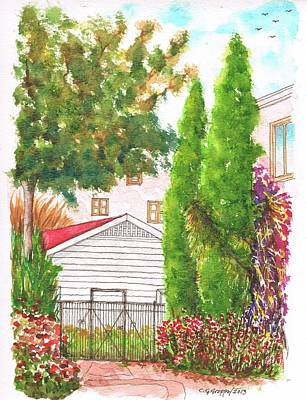 Two Cypresses In Hollywood - California Art Print