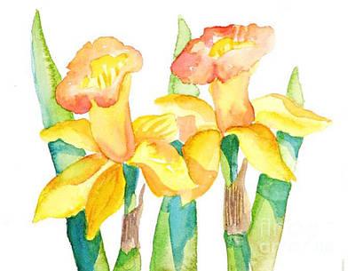 Two Daffodils Art Print