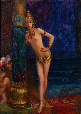Gaston Painting - Two Dancers by Gaston Bussiere