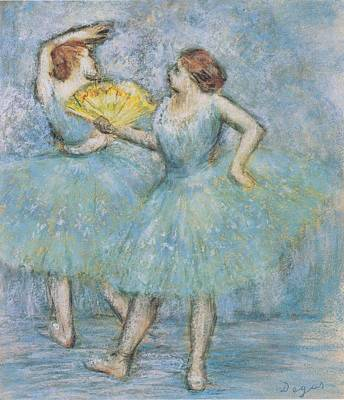 Degas Digital Art - Two Dancers by Georgia Fowler