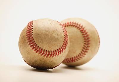 Two Dirty Baseballs Art Print by Darren Greenwood