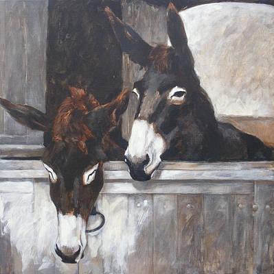 Two Donkeys Print by Anke Classen