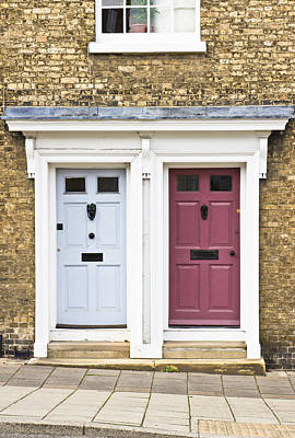 Brick Building Photograph - Two Doors by Tom Gowanlock