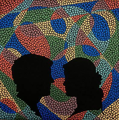 Target Threshold Watercolor - Two Dreams by Kruti Shah