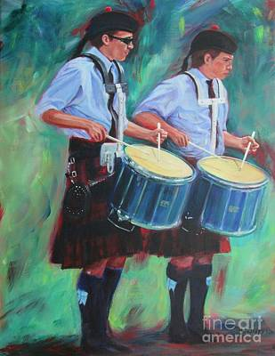 Painting - Two Drummers by Lesley McVicar