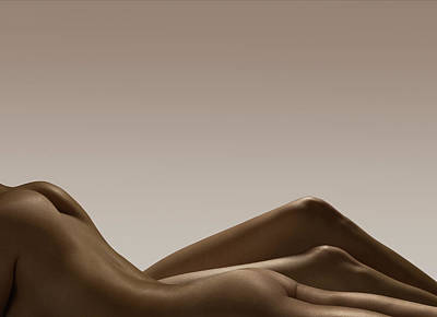 Naked Photograph - Two Female Naked Bodies by Jonathan Knowles