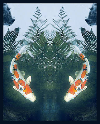Water Droplets Sharon Johnstone - Two Fish by Kristine Anderson