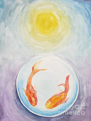 Painting - Two Fish by Shirin Shahram Badie