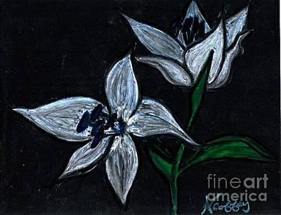 Pastel - Two Flowers by Neil Stuart Coffey