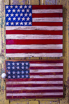 Two Folk Art Flags Art Print by Garry Gay