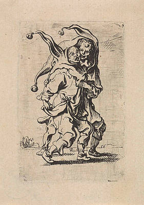Two Fools With A Fools Cap On The Head, Antoine Sallaert Art Print by Artokoloro