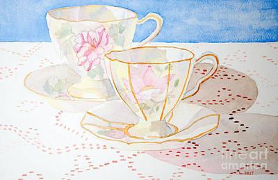 Two For Tea Art Print by Laurel Best
