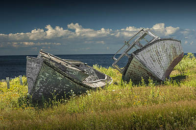 Science Collection - Two forlorn abandoned Boats on Prince Edward Island by Randall Nyhof