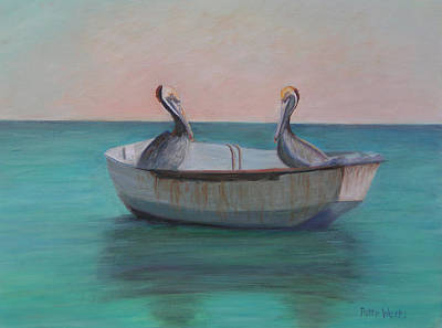 Painting - Two Friends In A Dinghy by Patty Weeks