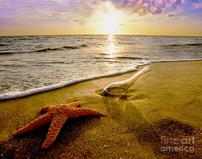 Two Friends On The Beach Art Print by Jon Neidert