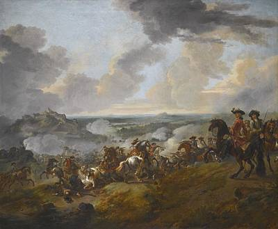 Wyck Painting - Two Generals Looking Out Over A Battle by Celestial Images