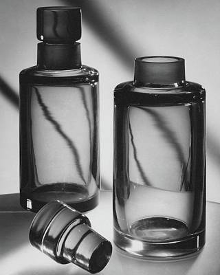 Black And White Photograph - Two Glass Decanters by Peter Nyholm