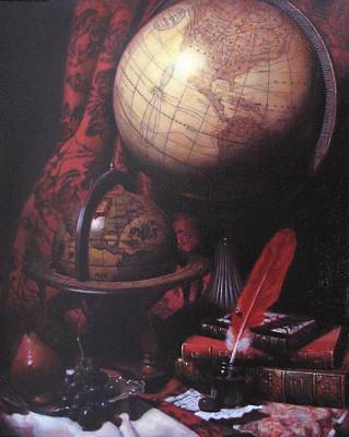 Two Globes Art Print by Takayuki Harada