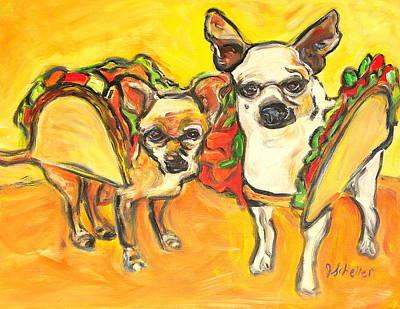 Two Good Tacos Art Print by Jodie  Scheller