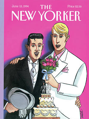 2 Painting - New Yorker June 13th, 1994 by Jacques de Loustal