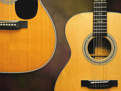 Photograph - Two Guitars by David and Carol Kelly