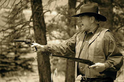 Photograph - Two Guns And A Badge by Sherlyn Morefield Gregg