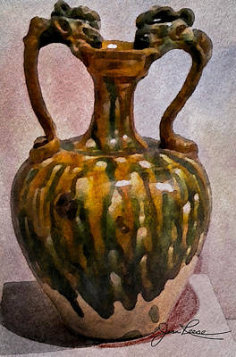 Mixed Media - Two Handle Vase by Joan Reese