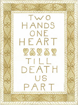 Two Hands Print by Cindy Shamp