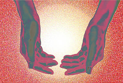 Digital Art - Two Hands by Laura Pierre-Louis