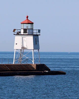 Photograph - Two Harbors Breakwater Lighthouse by George Jones