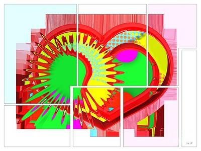 Digital Art - Two Hearts Are Better Than One by Liane Wright