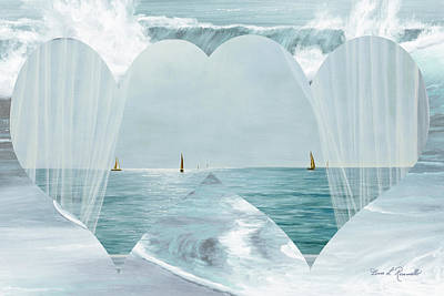 Painting - Two Hearts As One by Diane Romanello