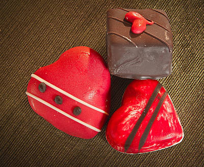Artisan Handcrafted Photograph - Two Hearts One Not by Jean Noren
