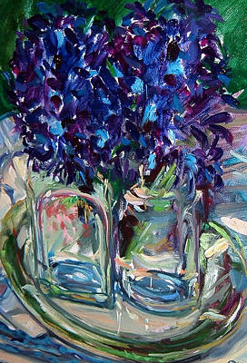 Party Invitation Painting - Two Hyacinths by Melissa Sarat