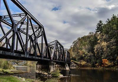 Two Iron Bridges Art Print by Anthony Thomas